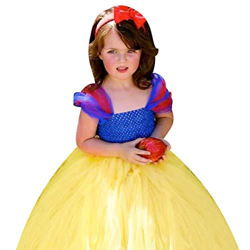 IMEKIS - Vestido de princesa para nia, de punto hecho a mano, de tul, tul y lazo, para Halloween, Navidad, carnaval, carnaval, cosplay, sin mangas, hecho a mano, tul