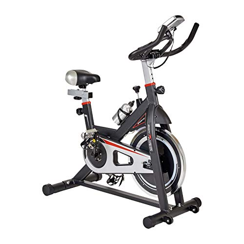 Body Xtreme Fitness Bundle Black/Silver Home Exercise Bike + Cooling Towel, Workout Equipment for Home Use, Drink Bottle, Resistance Bands, Home Gym Equipment, Training, Cardio, Indoor Cycling Bikes Exercise indoor