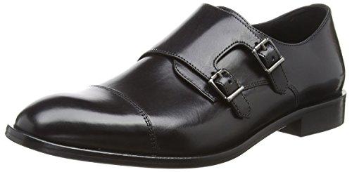 Geox Herren U SAYMORE E Monk-Strap Loafer, Black, 42 EU