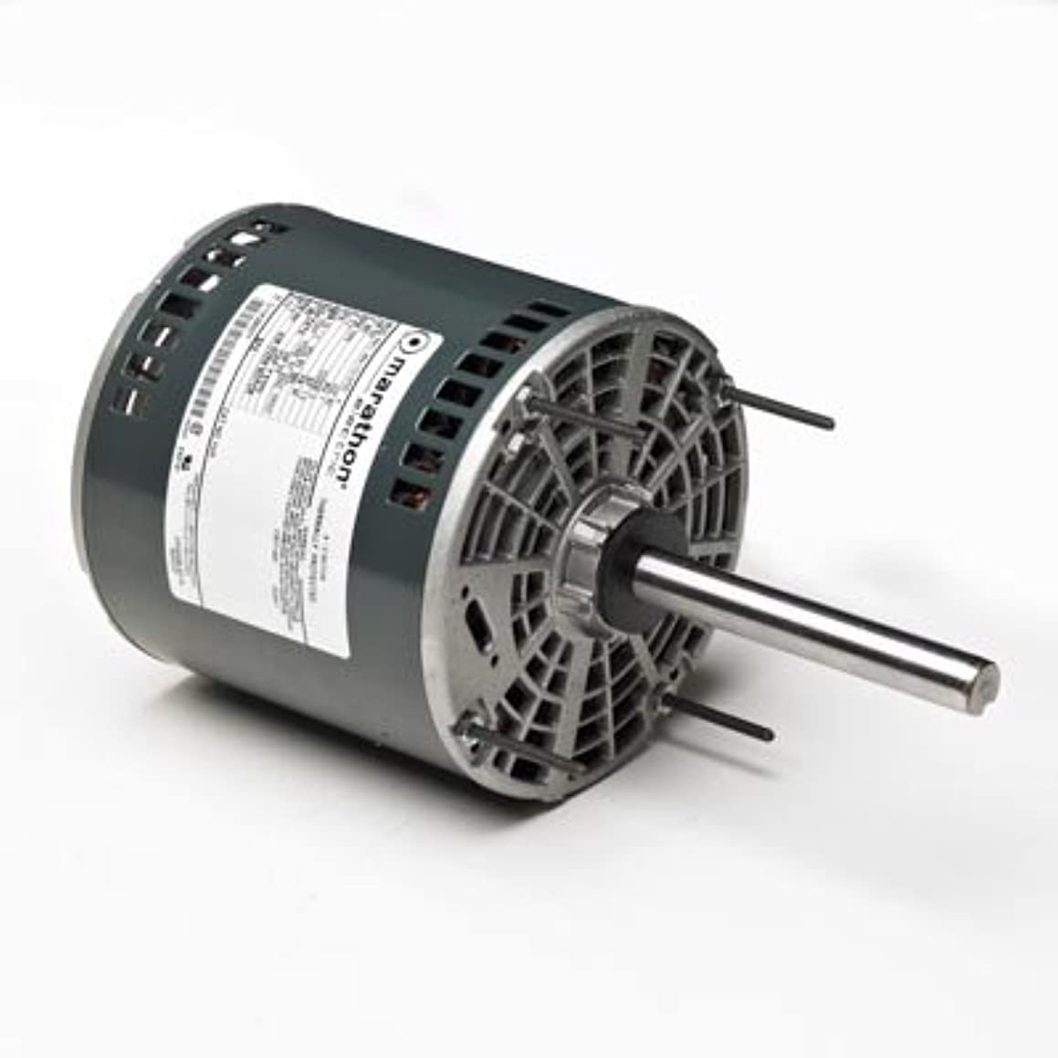 Marathon X085 48Y Frame Open Air Over 48A11O678 Condenser Fan Motor 3/4 hp, 1075 rpm, 208-230 VAC, 1 Phase, 2 Speeds, Ball Bearing, Permanent Split Capacitor, Thru-Bolt