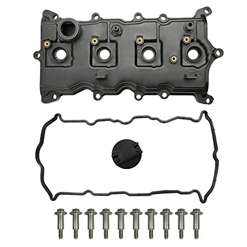 MITZONE Engine Valve Cover with Gasket Bolts & Oil Cap Compatible with 2007-2013 Nissan Altima Sentra SE-R 2.5L Part# 13264-JA00A 13270-JA00A