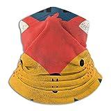 Cute Fox Face Drawn With Vector Neck Warmer Bufanda de invierno