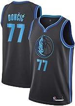 Swingman Ricamata canottejerseyNBA Luka Doncic Basket Jersey Maglia Canotta Dallas Mavericks #77 Abbigliamento Sportivo