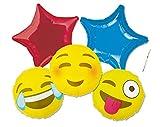 IRPot - BOUQUET PALLONCINI FOIL FACCINE SORRIDENTI EMOTICON SMILE LINGUACCIA