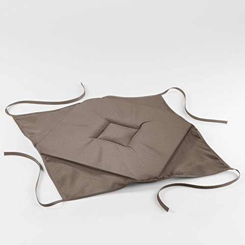 1001KDO POUR LA MAISON Coussin galette de chaise 36 x 36 x 3.5 cm taupe essentiel