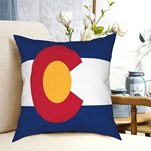 U/k Fundas de cojín cuadradas de la bandera del estado de Colorado para decoración del hogar, funda de almohada cuadrada para sofá, dormitorio, coche, 50,8 x 50,8 cm