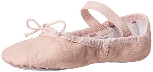 Bloch Dance Girl's Belle Full-Sole Leather Ballet Slipper/Shoe, Pink, 1 C US Little Kid