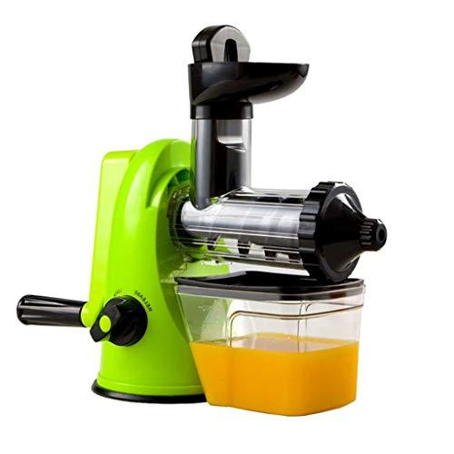 Mélangeur de jus multifonctionnel manuel de qualité supérieure pour presse-fruits lourd (Color : Green)