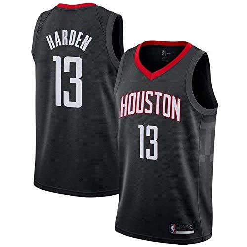 canottejerseyNBA James Harden - Houston Rockets #13, Basket Jersey Maglia Canotta, Swingman Ricamata, Abbigliamento Sportivo (S, Nero)