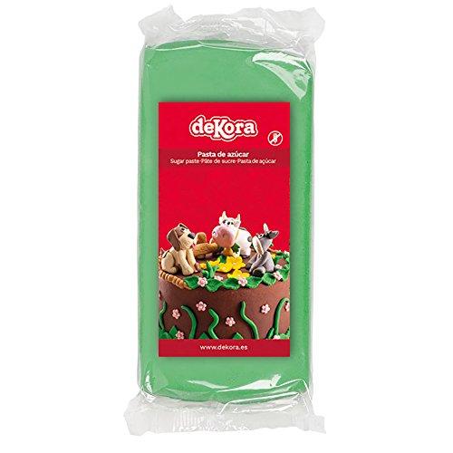 Dekora - Cobertura para Tartas de Fondant de Color Verde - 3 de 250 gr