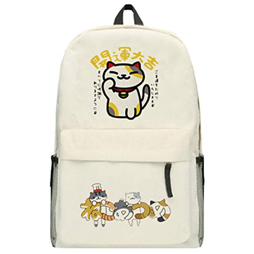 Neko Atsume Casual Backpack Sports Daypack Canvas Backpack Travel Bag Casual Backpack Fashion Backpack Printed School Bag (Color : A05, Size : 45 X 32 X 12cm)