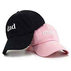 💑 EMBROIDERED HAT | 100% Lightweight Cotton cap is directly embroidered across the front for a stunning couple look 🧢 ADJUSTABLE FIT | Adjustable low profile cap sits comfortable to the head, with an floppy un-structured construction ☀ METAL CLOSURE ...