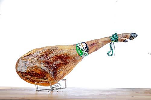 JAMON IBERICO CEBO // Jamón ibérico 50% cebo raza ibérica // Regalo juego de cuchillo jamonero y jamonero // Peso de 8 a 8,5 kg // Curación 30 meses // Moran C.B // Envio 24 – 72h.