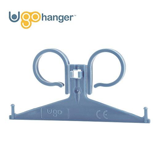 Ugo Gancio di Supporto – Resistente Facile da Pulire Supporto per Borsa Catetere Notturna, Fissabile facilmente a Sedie, Sedie a rotelle e letti