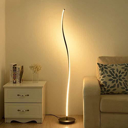 XHCP Stehlampe Schwarze LED Dimmbar mit Fernbedienung Hohe Lampe für Wohnzimmer Arco Style Metall Stehlampe