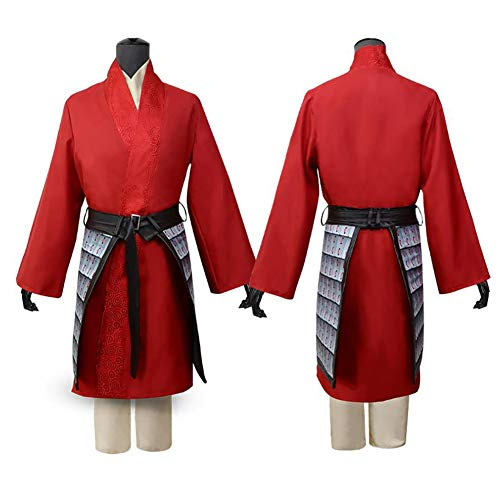 Disfraz Traje De Halloween para Mujeres Nias Rojo Accesorios De Cosplay De La Pelcula Mulan Ropa De Fiesta para Adultos,130