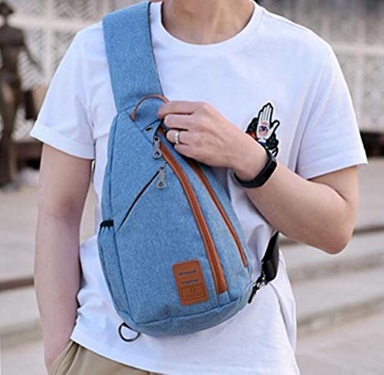 Chest Bag Home Herren Casual Polyester Brusttasche Multifunktions Outdoor Sports Umhngetasche Mode Schulter Messenger Rucksack (Blau)