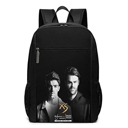 XuZhiXianX Mochila para portátil de viaje escolar The Chainsmokers 17 Inch Backpack, School Bag