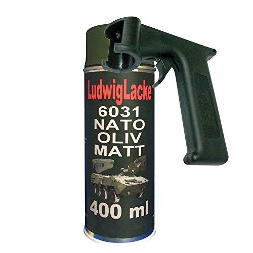 NATO Oliv MATT 1 Spraydose je 400ml RAL 6031 & Haltegriff
