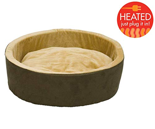 K&H Pet Products 3191 Thermo-Kitty Heated Pet Bed Small Mocha 16' 4W