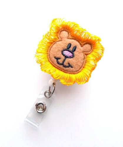 Harry The Lion - Cute Badge Reel - Nurses Badge Holder - Felt Badge Holder - Nursing Badge Holder - Cute Badge Reel - RN Badge Reel - Nurse Photo #2