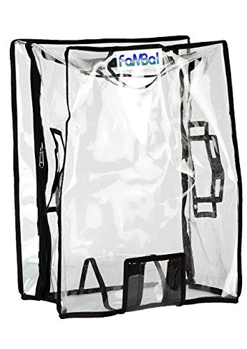 Fambal Waterproof Dust Proof Suitcase Cover Trolley Bag Cover with Zip for Hard Luggage_Transparent_FTREADR09-76