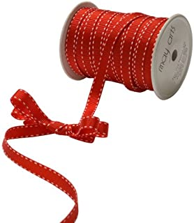 May Arts 3/8-Inch Wide Ribbon, Red Grosgrain