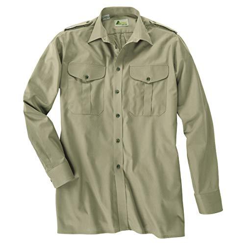 SKOGEN Jagdhemd schilfgrün mit langem Arm Übergröße, Kragenweite:46