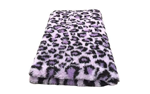 Vetbed -/ Drybed I Leopard Flieder-lila I 100 x 150 cm