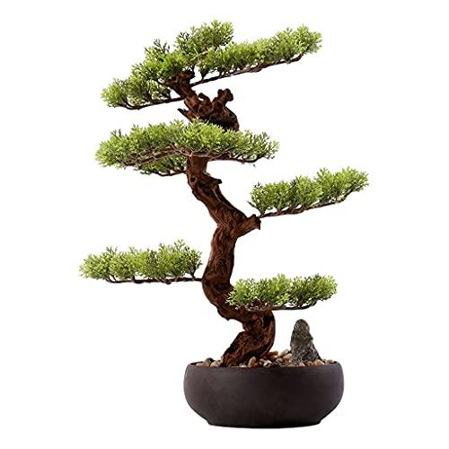 FGVBC NEP Planten Kunstmatige Gastvrije Pine Bonsai Boom Keramische Bloempot Kiezels Kunstmatige Conifeer Kantoor NEP Plant Thuis Woonkamer Decoratie Kunstmatige Bonsai