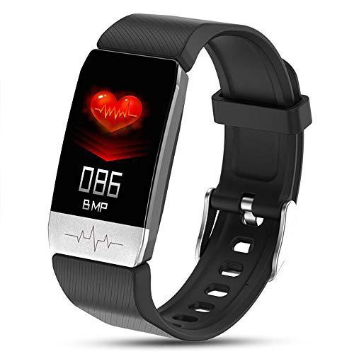 DUTUI Sportuhr, Multisportmodus-Kalorienverbrauchsuhr wasserdichte Bluetooth-Uhr, Angenehm Zu Tragen,Schwarz