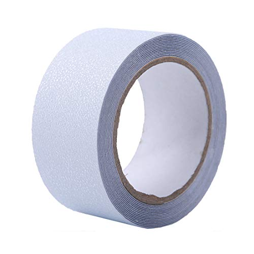 Hylaea Anti Slip Tape Clear, 2 Inch x 20 Feet, Anti Slip Strip, Non-Slip Stair Treads Tape, Safety Tub and Shower Tread for Stairs, Steps, Boats, Garage, Ladders, Indoor, Outdoor, Prevents Slipping