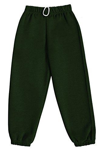 Dalsa - Pantaloni da jogging in pile per bambini e bambine Verde bottiglia 12-13 Anni