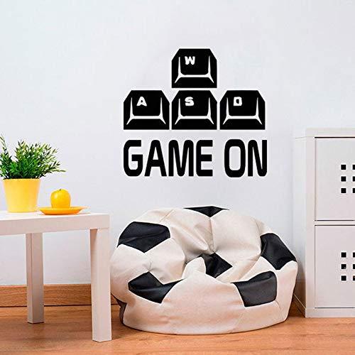 YIYEBAOFU zwarte stip muur Stickers Octopusgame op muur Sticker gewassen toetsenbord Controller Kies uw wapen Gamer Video Game jongens kamer Playroo
