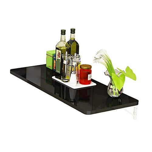 Wandklaptafel klaptafel, tafel van inklapbare keukentafel van hout aan de hangende en massief hout multifunctioneel eenvoudig op te vouwen schoon te maken ruimte besparen 90×40cm/35×16inch zwart