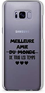 "ZOKKO Cover for Samsung S8 with""Meilure Amie de Tous Les Temps"" (""Best Friend of All Weather"") Design - Transparent - Blac..."