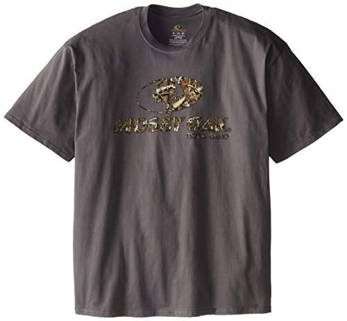 Mossy Oak Men's XXL Front Logo Charcoal Short Sleeve T-Shirt, XX-Large