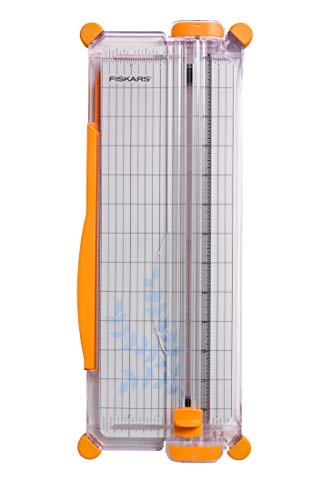 Fiskars SureCut Portable Paper Trimmer, 12 Inch Cut, Orange - 154450-1009
