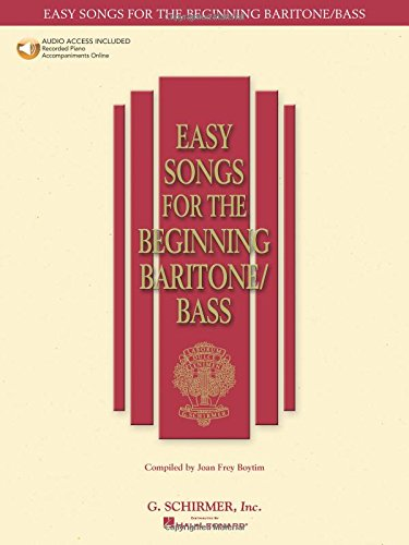 Easy Songs for the Beginning Baritone/Bass (Easy Songs for Beginning Singers)