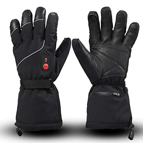 SAVIOR HEAT Heated Gloves, Unisex Rechargeable Battery Powered Electric Heating Glove for Winter...