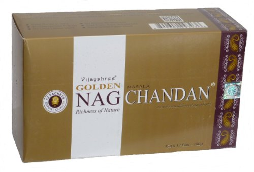 180 gms Box of GOLDEN NAG CHANDAN Masala Agarbathi Incense Sticks - in stock and shipped by Busy Bits by Golden Nag