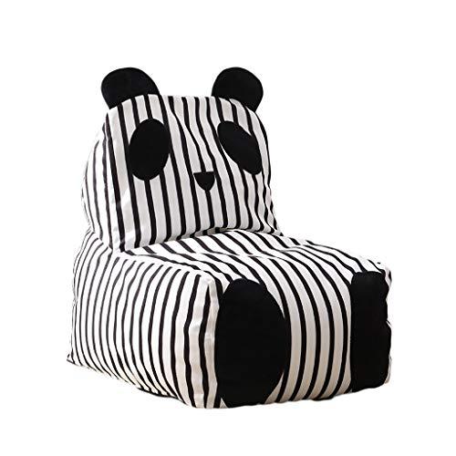 YONGJUN Kindersofa, Abnehmbare Baby-Sitzsack Sofa Junge Mädchen Stoff Lesesofa Schwarz Weiß
