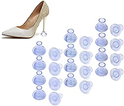 Swesy 12 Pairs 3 Sizes High Heel Protectors for Walking on Grass and Uneven Floor, Clear Heel Sink Stoppers for Women Wedding Shoes