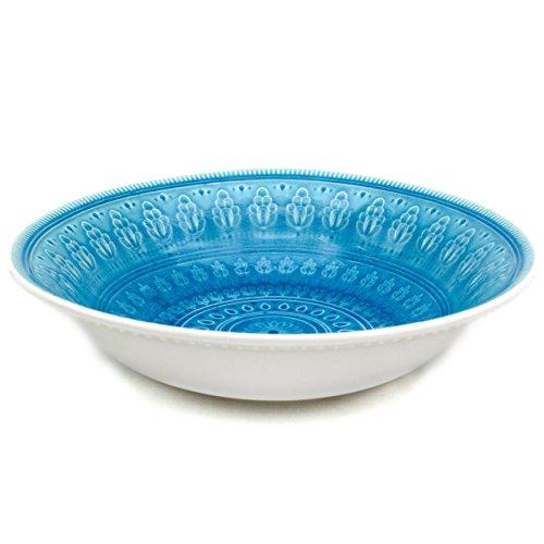 Euro Ceramica Fez Serving Bowl, Turquoise