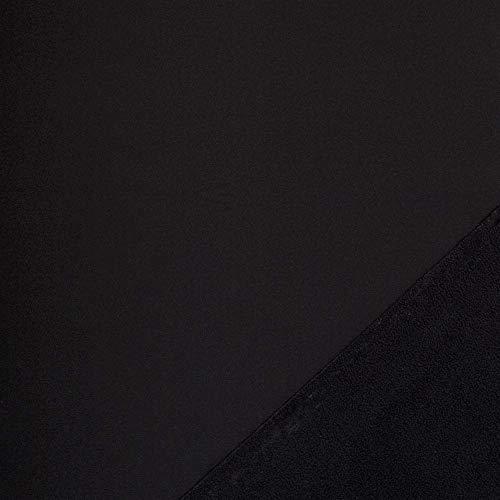 Nano Softshell, Lenny von Swafing, Meterware, wasserabweisend, 50 cm, (Schwarz 299)