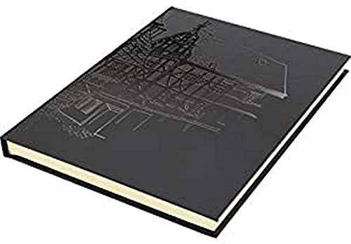 Skizzenbuch Kangaro A5 blanko, Hardcover, schwarz mit Design, 140g creme papier, K-5567