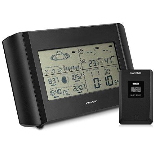 Kwmobile Estación meteorológica Reloj Despertador