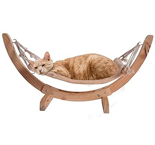 Hamaca de lujo para gatos, cama para dormir para gatitos, mecedora de madera desmontable, cuna rodante, columpio, juguete, muebles de interior al aire libre, sofá, percha,...