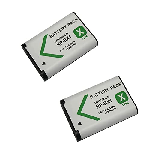 LOTUS POWER Reemplazo del Paquete de Batería NP BX1 1600mAh, Batería de Iones de Litio Recargable NP-BX1 para Cámara Sony DSC-HX90V / RX100 / RX100V / RX100 VII / WX500 (2 Baterías)