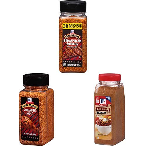 McCormick Multi-Cooker Bundle, Grill Mates Smokehouse Maple 15.5 oz, Brown Sugar Bourbon 9.75 oz, and Original Chili Seasoning 22 oz